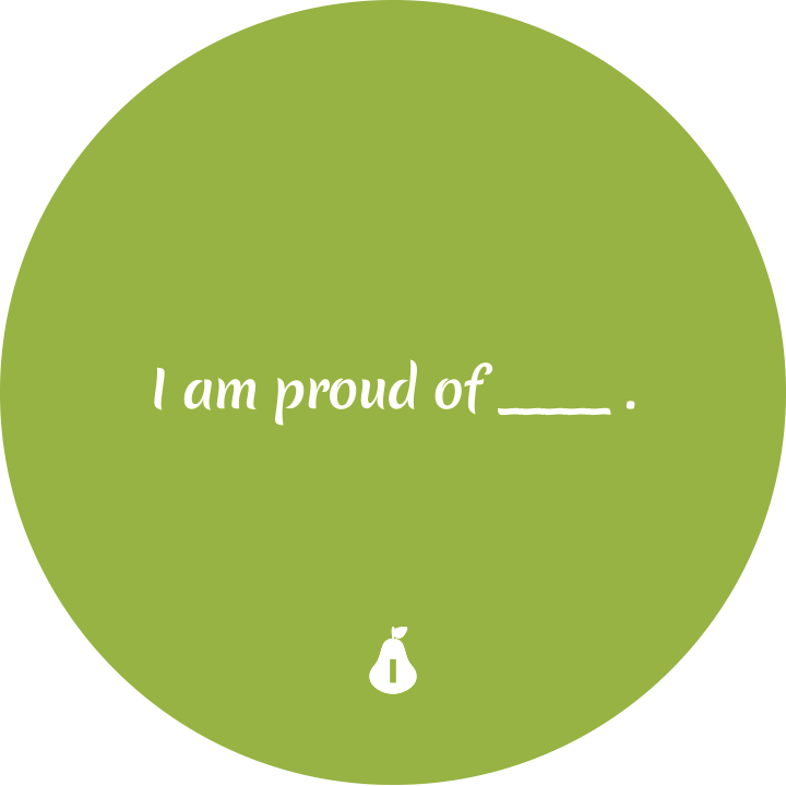I am proud of ...